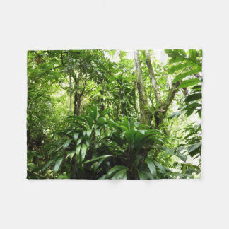 Dominican Rain Forest I Tropical Green Nature Fleece Blanket
