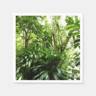 Dominican Rain Forest I Tropical Green Nature Paper Napkin