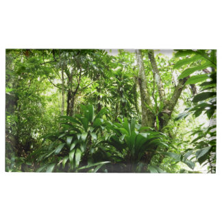 Dominican Rain Forest I Tropical Green Nature Table Number Holder