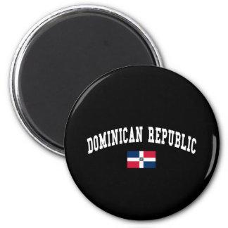 DOMINICAN REPUBLIC 6 CM ROUND MAGNET
