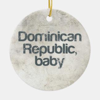 Dominican Republic Baby Ceramic Ornament