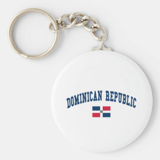 DOMINICAN REPUBLIC BASIC ROUND BUTTON KEY RING