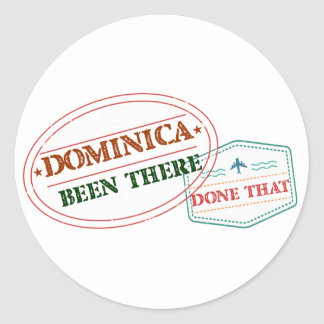 Dominican Republic Been There Done That Classic Round Sticker