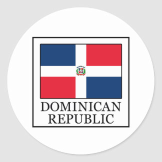 Dominican Republic Classic Round Sticker