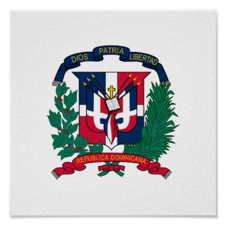 Dominican Republic Coat of Arms Poster