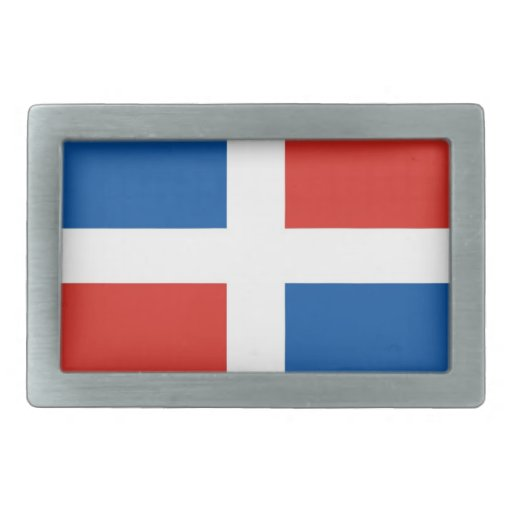 dominican republic country flag belt buckles