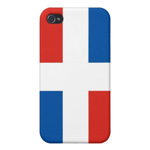 dominican republic country flag case cover for iPhone 4