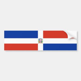 dominican republic country flag nation symbol long bumper sticker
