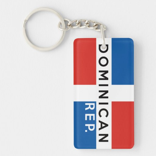dominican republic country flag symbol name text acrylic keychain
