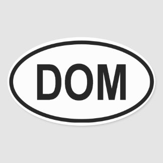 "Dominican Republic ""DOM"" Oval Sticker"
