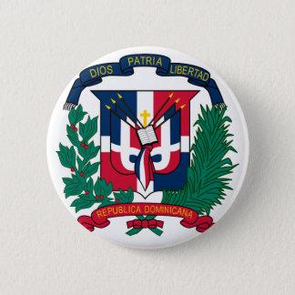 dominican republic emblem 6 cm round badge