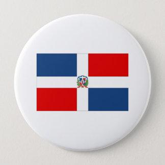 Dominican Republic Flag 10 Cm Round Badge