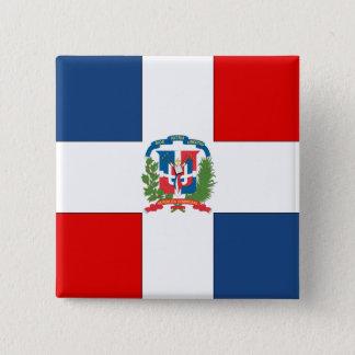 Dominican Republic Flag 15 Cm Square Badge