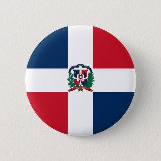 Dominican Republic Flag 6 Cm Round Badge