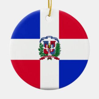 Dominican Republic Flag Ceramic Ornament