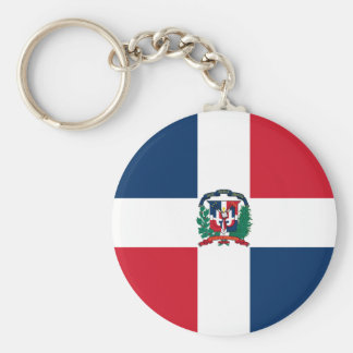Dominican Republic Flag DO Key Chain