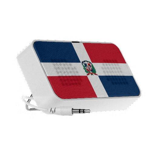 Dominican Republic Flag Doodle Mini Speaker