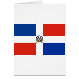 Dominican Republic Flag Greeting Card