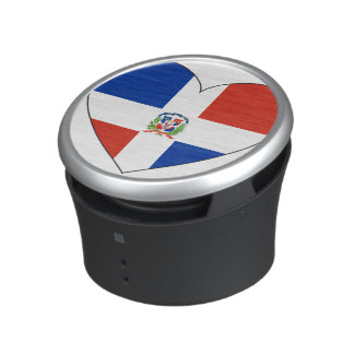 Dominican Republic Flag Heart Bluetooth Speaker