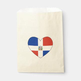 Dominican Republic Flag Heart Favour Bag