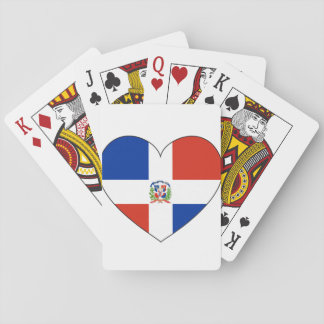 Dominican Republic Flag Heart Playing Cards