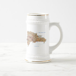 Dominican Republic Flag ~ Map Mug