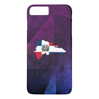 dominican republic Flag Map on abstract space back iPhone 7 Plus Case