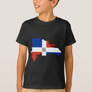 Dominican Republic flag map T-Shirt