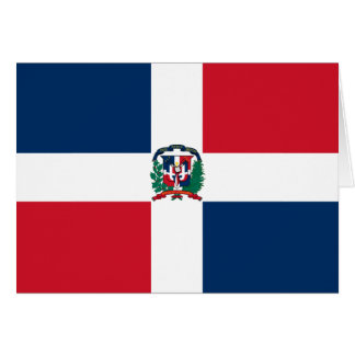 Dominican Republic Flag Note Card
