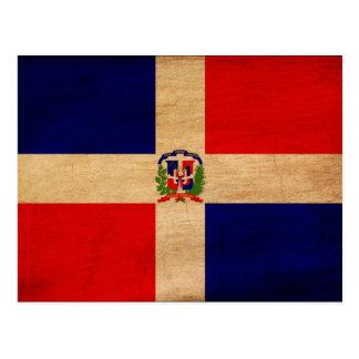 Dominican Republic Flag Postcard
