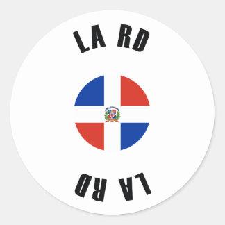 Dominican Republic Flag Simple Classic Round Sticker