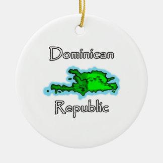 Dominican Republic Map Ceramic Ornament