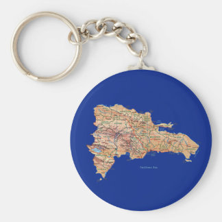 Dominican Republic Map Keychain
