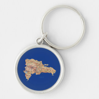Dominican Republic Map Keychain