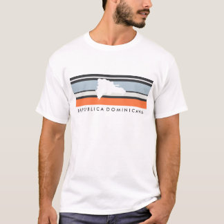 Dominican Republic Map: Modern Stripes T-Shirt