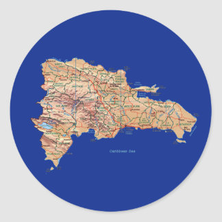 Dominican Republic Map Sticker