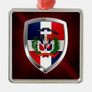Dominican Republic Mettalic Emblem Metal Ornament