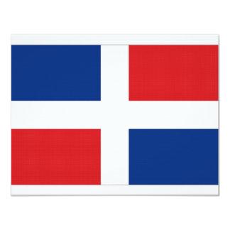 Dominican Republic National Flag 11 Cm X 14 Cm Invitation Card