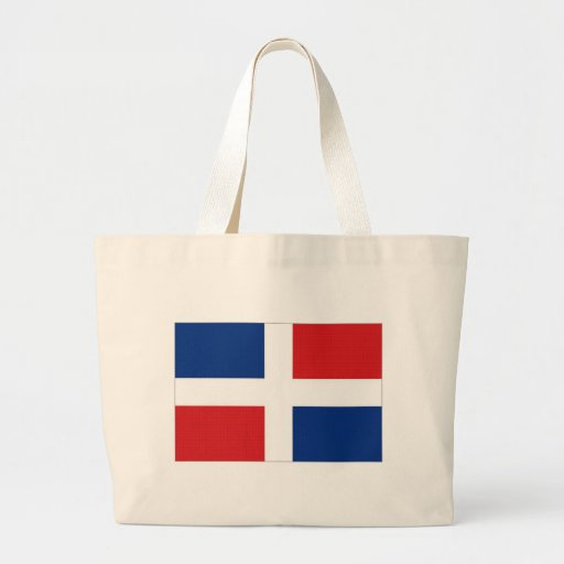 Dominican Republic National Flag Canvas Bags