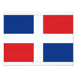 Dominican Republic National Flag 4.25x5.5 Paper Invitation Card
