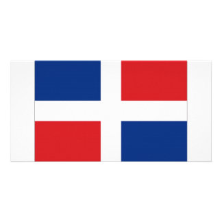 Dominican Republic National Flag Personalized Photo Card