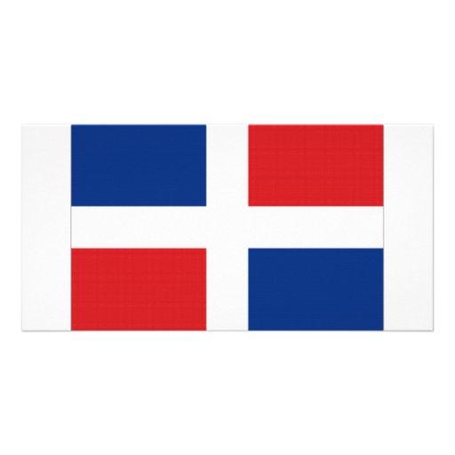 Dominican Republic National Flag Custom Photo Card