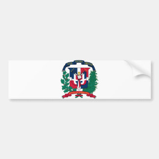 Dominican Republic Official Coat Of Arms Heraldry Bumper Sticker