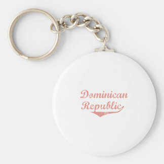Dominican Republic Revolution Style Basic Round Button Key Ring