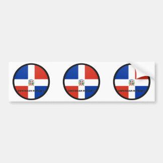 Dominican Republic Roundel quality Flag Bumper Sticker