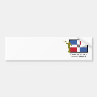 DOMINICAN REPUBLIC SANTIAGO MISSION LDS CTR BUMPER STICKER