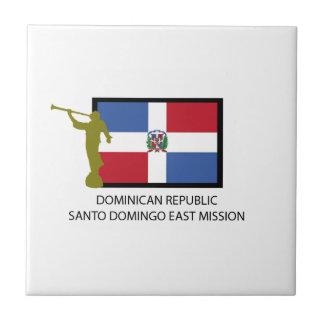 DOMINICAN REPUBLIC SANTO DOMINGO EAST MISSION LDS SMALL SQUARE TILE
