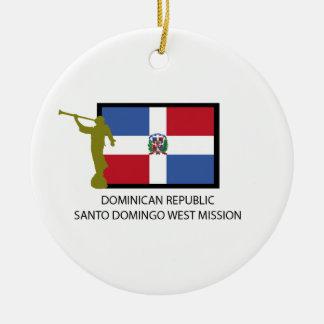 DOMINICAN REPUBLIC SANTO DOMINGO WEST MISSION LDS CERAMIC ORNAMENT