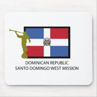 DOMINICAN REPUBLIC SANTO DOMINGO WEST MISSION LDS MOUSE PAD