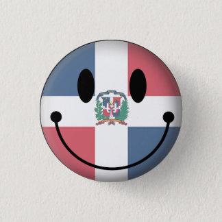 Dominican Republic Smiley 3 Cm Round Badge